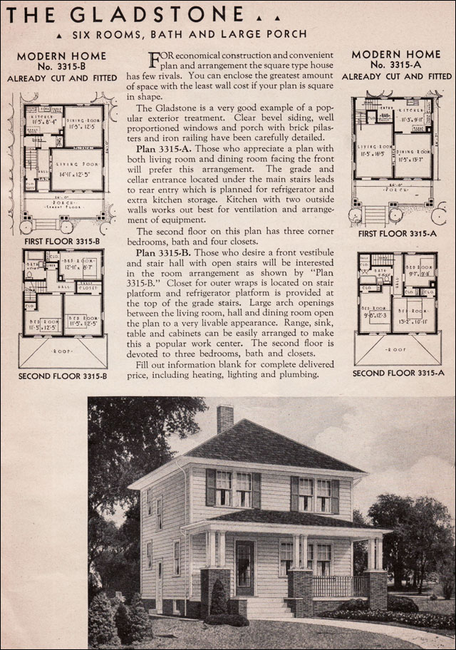 1936 Sears Kit Homes  Gladstone  Honor Bilt  American
