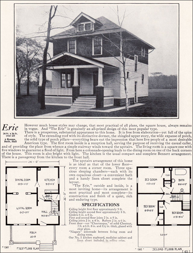 Maybe Your Foursquare House Is From A Catalog House Plans Old