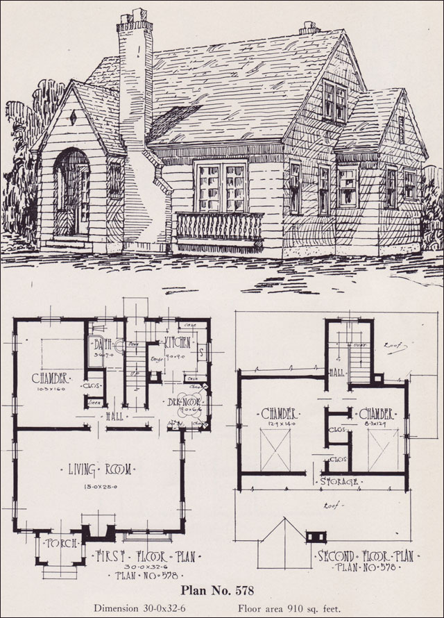 1926 Universal Plan Service No 578 Modern English