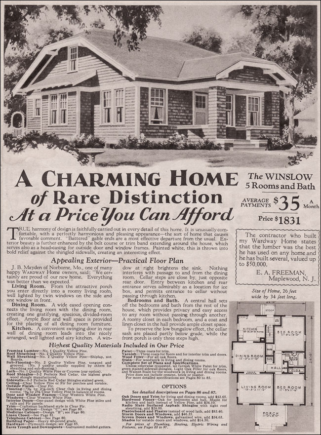 Style Plans 1930 Bungalow House