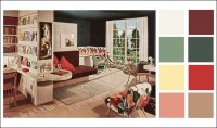 Mid-century Modern - Color Schemes - 1946 Armstrong ...
