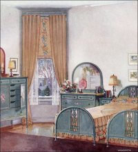 Colonial, 1920s and 1920s bedroom on Pinterest