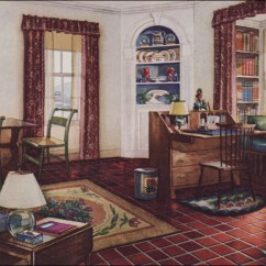 1930s Interior Design Living Room Home Images 1931 Traditional Style Armstrong Linoleum
