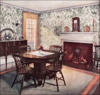 1926 Traditional Dining Room - Colonial Interior Style of ...