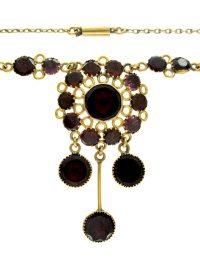 Regency Almandine Garnet Necklace - The Antique Jewellery ...