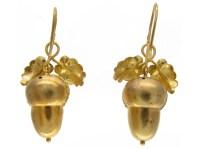 Gold Acorn Earrings Antique Etruscan Revival Gold Acorn ...