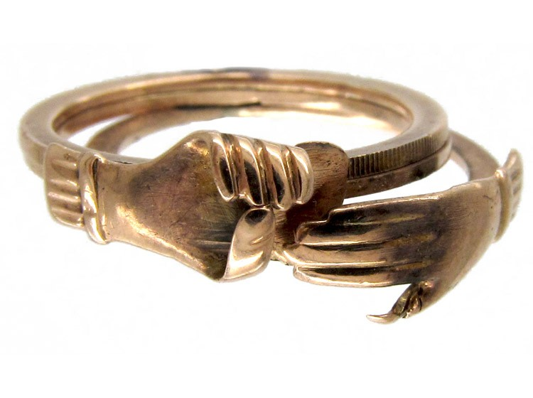 Victorian Gold Fede Ring The Antique Jewellery Company