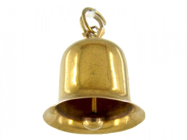 Gold Bell Charm - Antique Jewellery Company