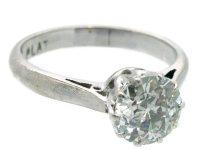 18ct White Gold & Platinum One Carat Diamond Solitaire ...