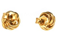 9ct Gold Small Knot Earrings - The Antique Jewellery Company