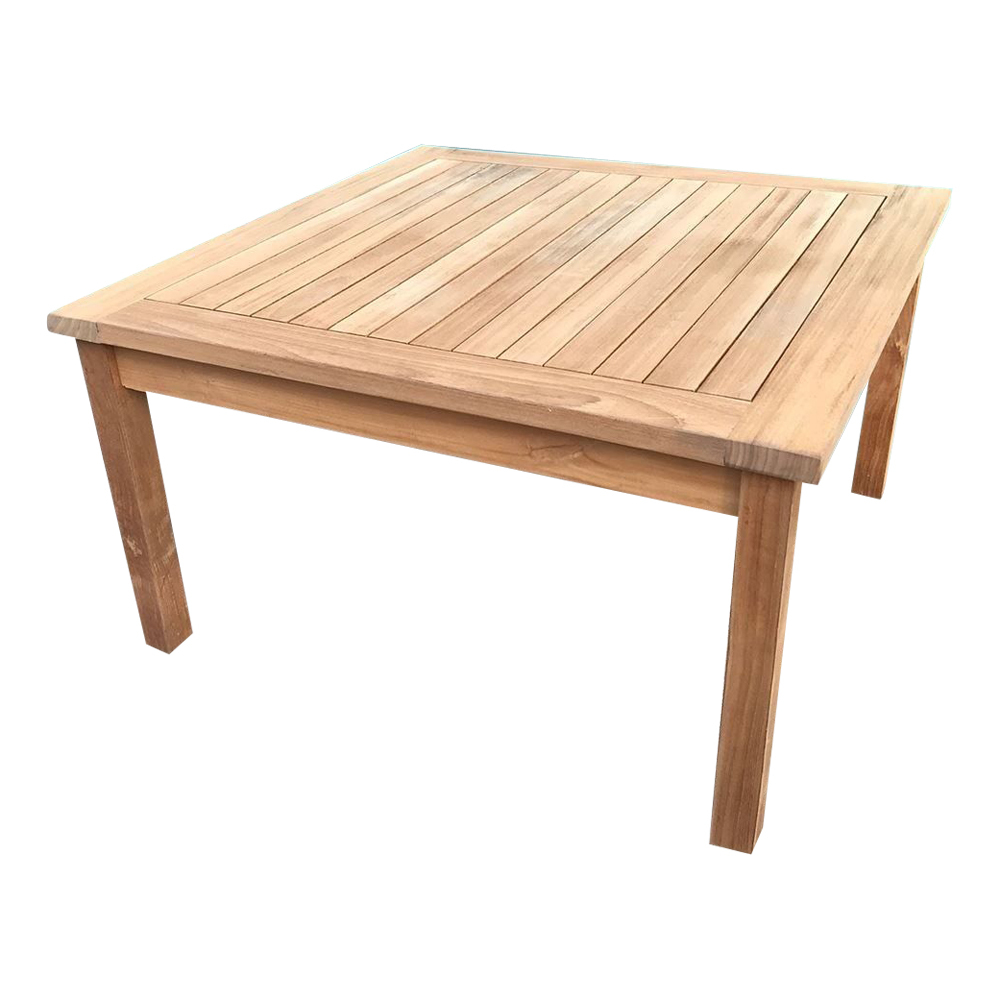 solid teak wood large square coffee table garden outdoor furniture