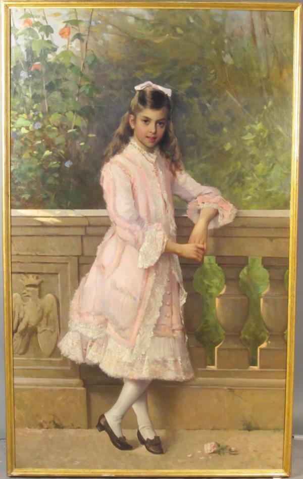 Vittorio Matteo Corcos 1859-1933 Italian Oil Canvas