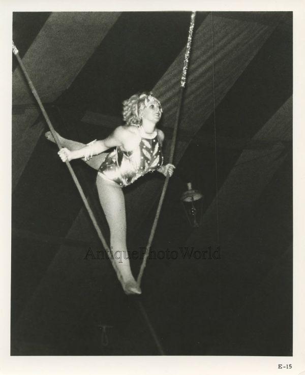 Woman Circus Acrobat Trapeze Vintage