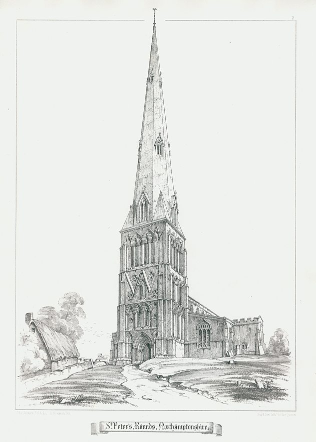 Old and antique prints and maps: Northamptonshire, Raunds
