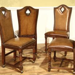 Poker Table Chairs With Casters Desk Chair Kuwait Traditional Leather Top Seats 10 People Card