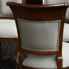 Dining Chair Upholstery School Chairs For Sale Mahogany Room With Upholstered Back Ebay
