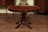 48 Round Dining Table with Leaf | Round Mahogany Dining