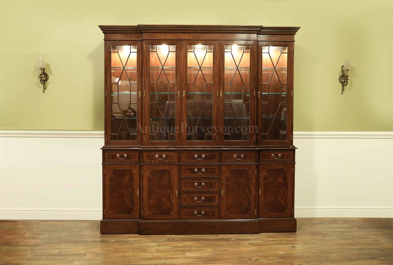 Large Traditional High End Mahogany China Cabinet