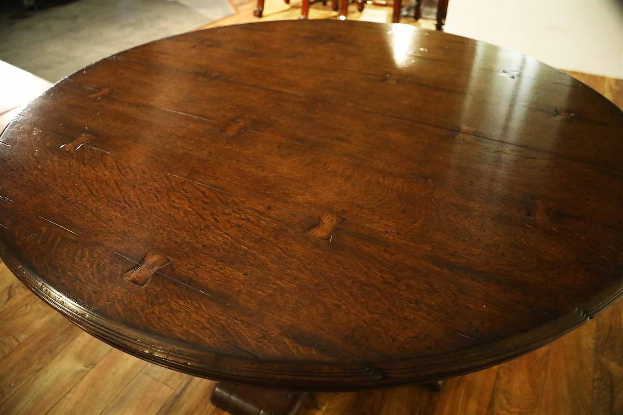 Rustic Round Dining Room Table