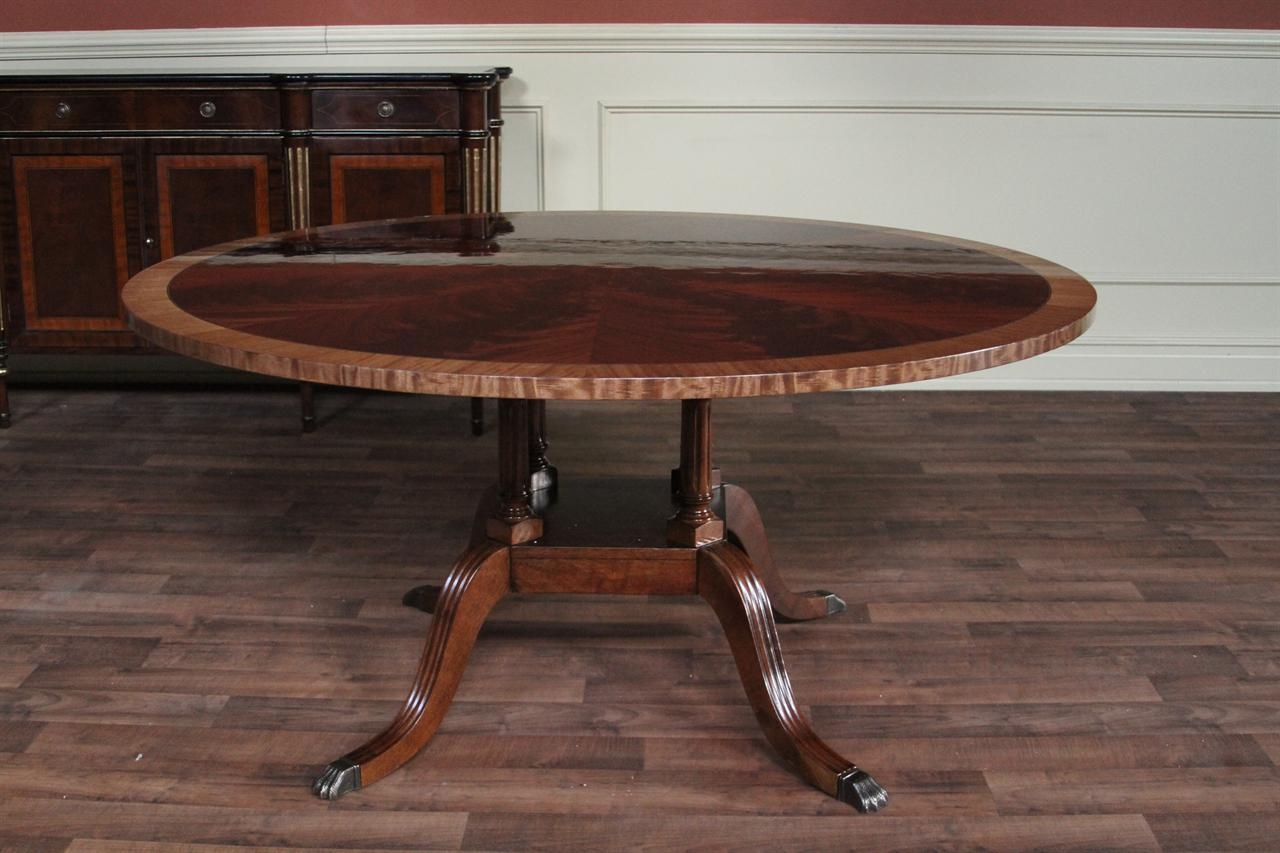 60 round flame mahogany dining room table hickory chair mount vernon 8615
