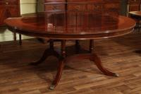 "72"" High End Round Mahogany Dining Table with Duncan Phyfe ..."