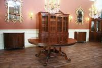 """72"""" High End Round Mahogany Dining Table with Duncan Phyfe ..."""