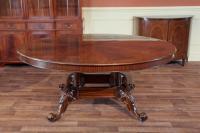 Round Mahogany Table w/ Walnut Color Finish | High End | eBay