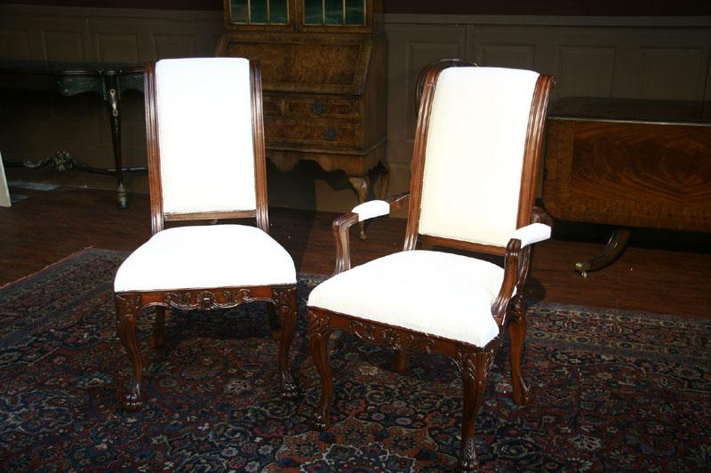 oval back dining chairs chair with casters 8 upholstered chairs, paw foot regency only 2 arms and 6 sides available!