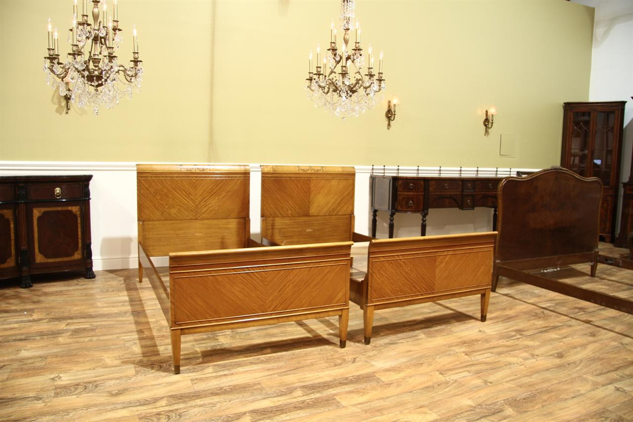 Antique Mahogany Twin Beds Vintage Twin Bed Frames