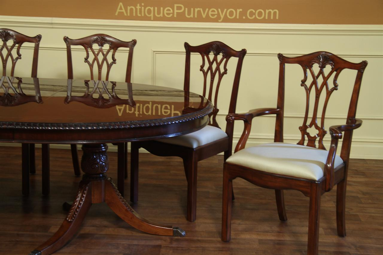 antique round back corner chair leg extenders oval double pedestal dining table american made