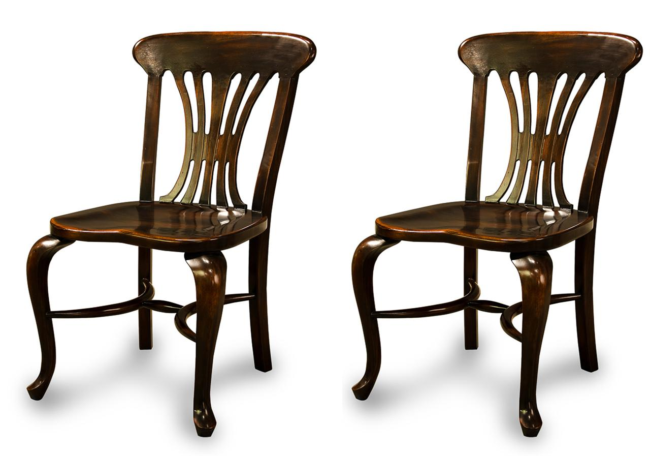 dark walnut dining chairs rustic ladder back chair black country solid ebony finish kitchen