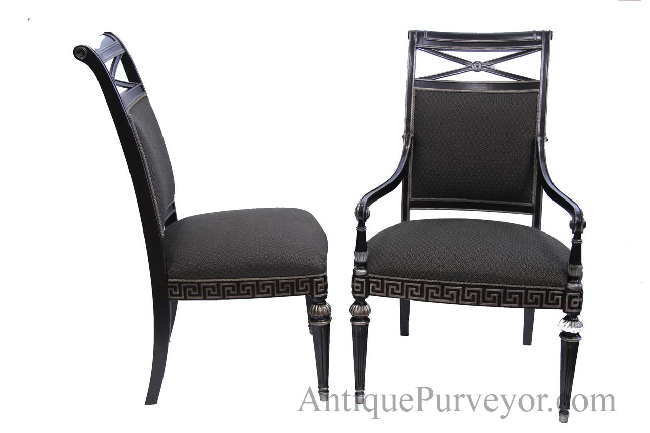 transitional dining chairs target black silver painted upholstered room