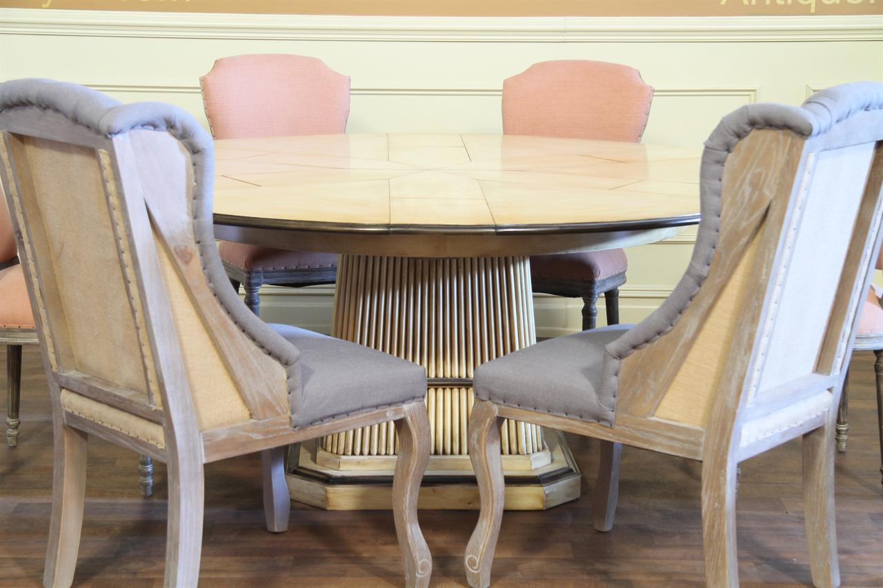 8 High Quality Casual Dining Chair with Soft Peach Upholstery