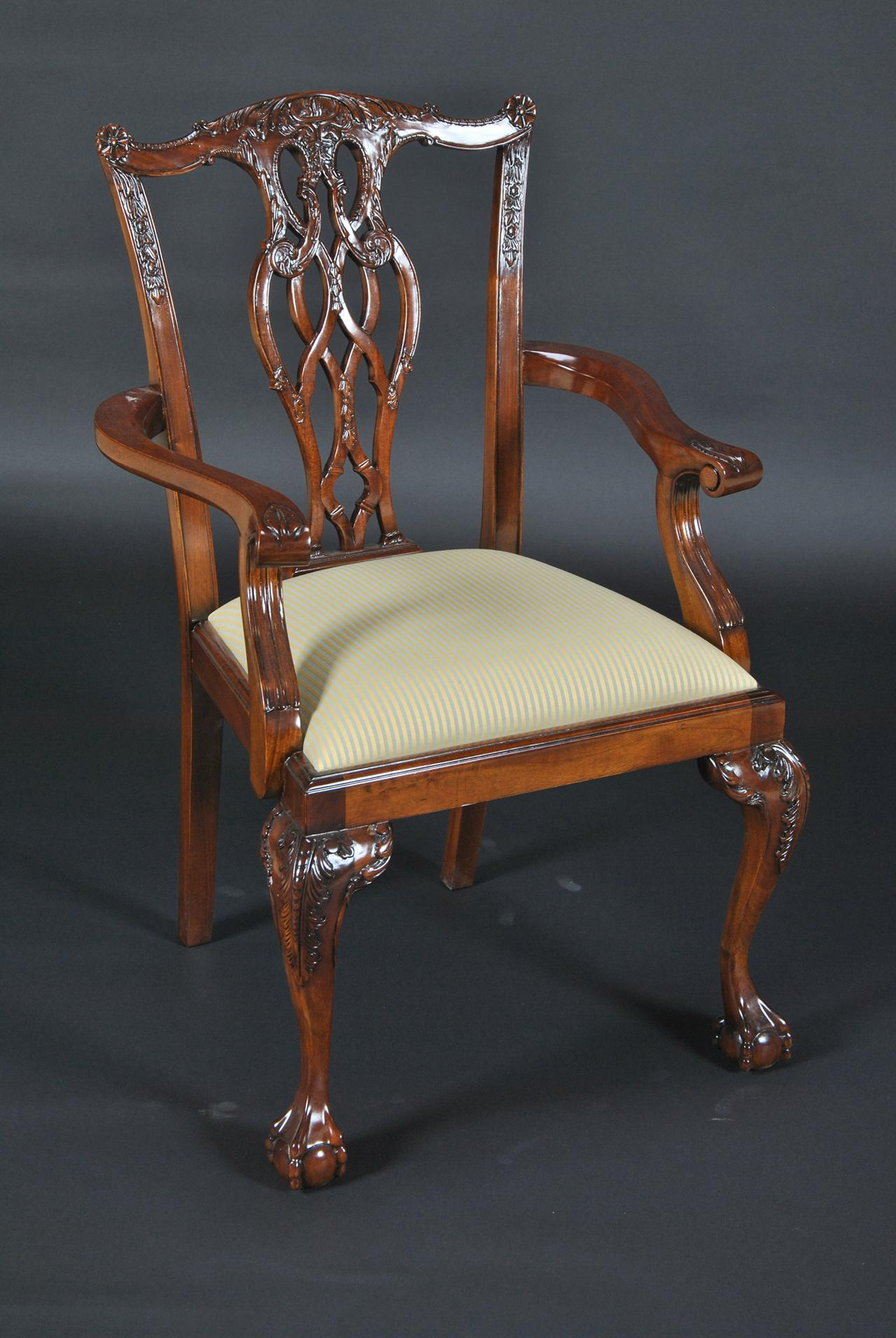 chair ball game hanging kent chippendale claw devon