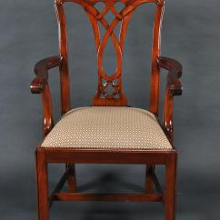 Chippendale Dining Chair Outdoor Bistro Simple Mahogany Straight Leg 6