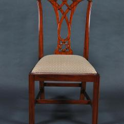 Chippendale Dining Chair Ikea Covers Borje Simple Mahogany Straight Leg 6