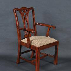 Chippendale Dining Chair Mid Century Table And Chairs Simple Mahogany Straight Leg 6