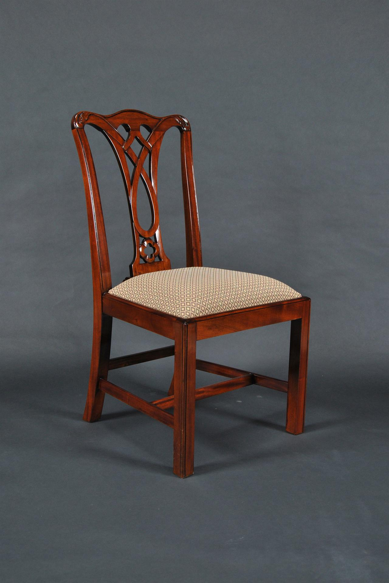 chippendale dining chair office casters for wood floors simple mahogany straight leg 6