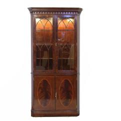 Oval Back Dining Chairs Knoll Office Mahogany Corner China Cabinet Hutch Traditional Formal Curio