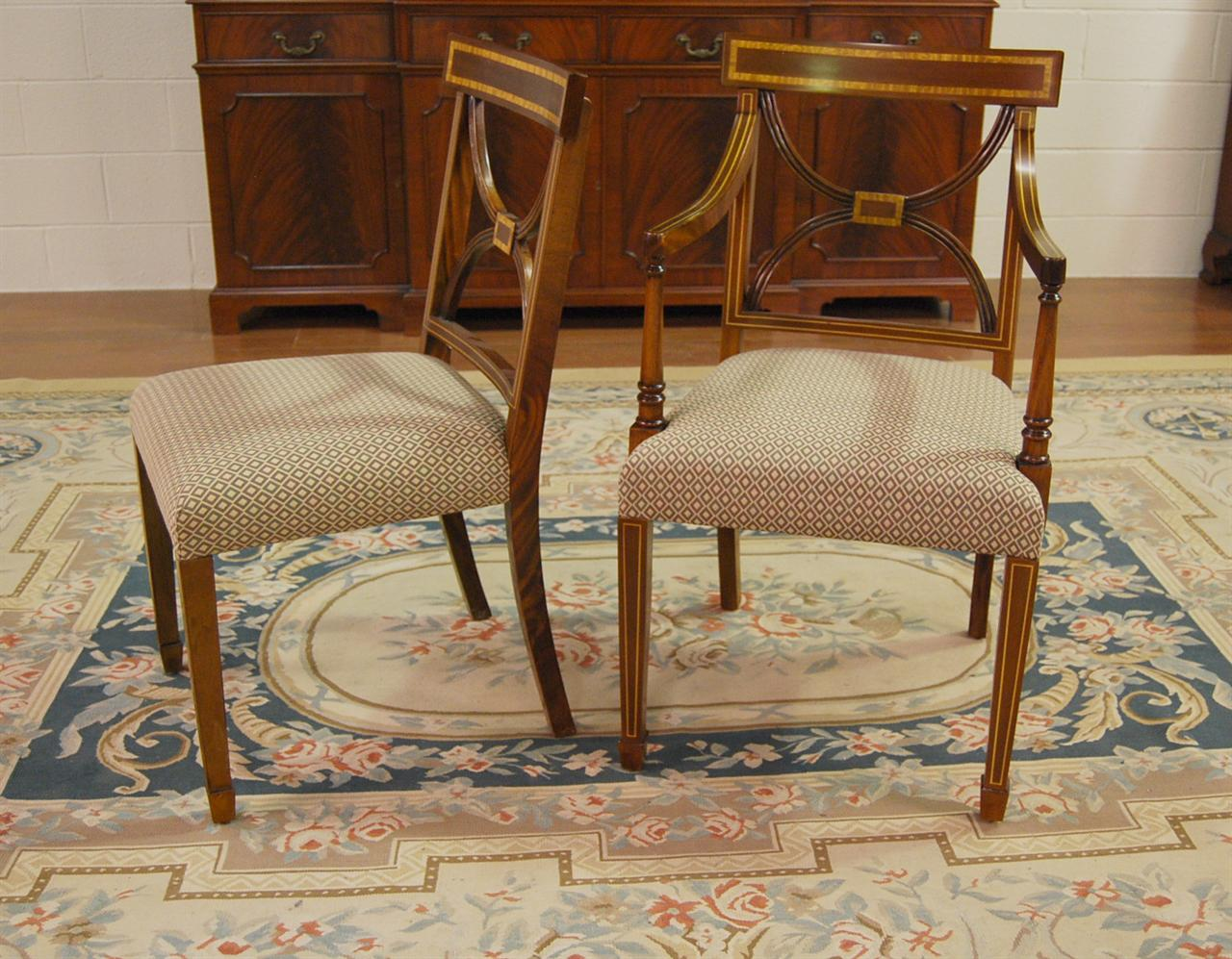 Mahogany Dining Chairs Cross Back Dining Room Chair  eBay