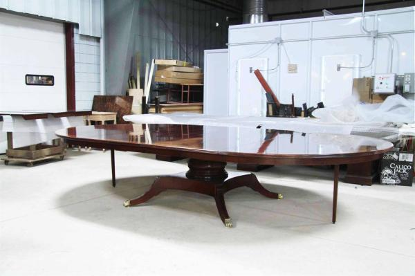 Custom American 84 Mahogany Dining Table