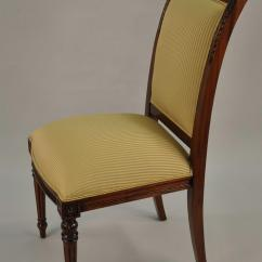 Dining End Chairs Single Chair Ale 8 High Gold Leaf Accented Mahogany