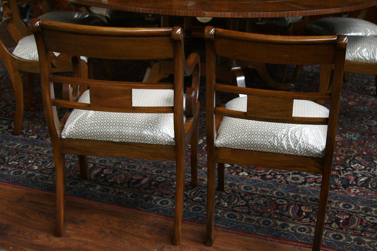 duncan phyfe chairs chair covers rental mississauga mahogany dining ebay
