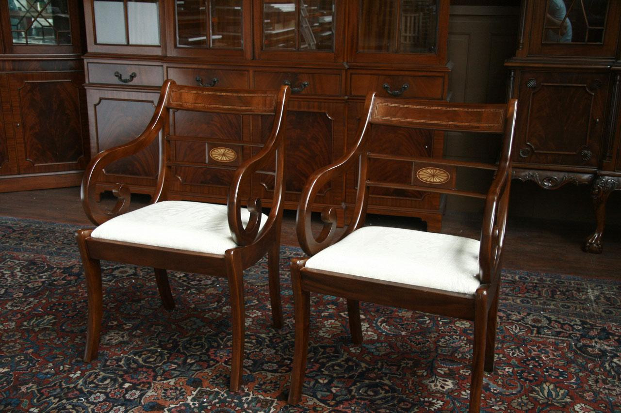 Duncan Phyfe Dining Chairs Duncan Phyfe Dining Room Chairs Pair Of Arms