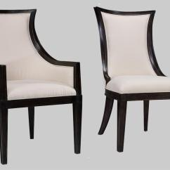 Transitional Dining Chairs How To Make A Throne Chair Ebonized Upholstered Back