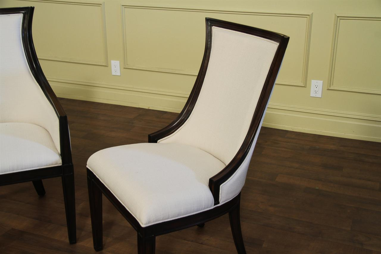 transitional dining chairs folding chair cap covers ebonized upholstered back