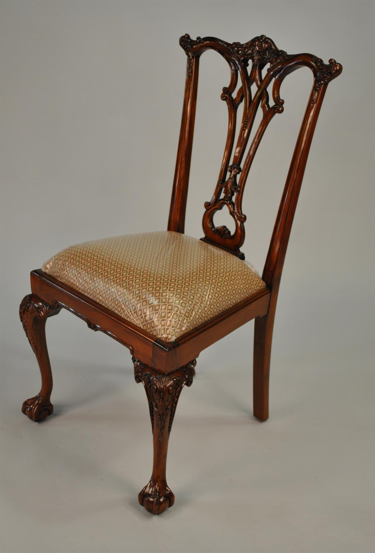 chair ball game reclining rocking and claw dining room chairs chippendale