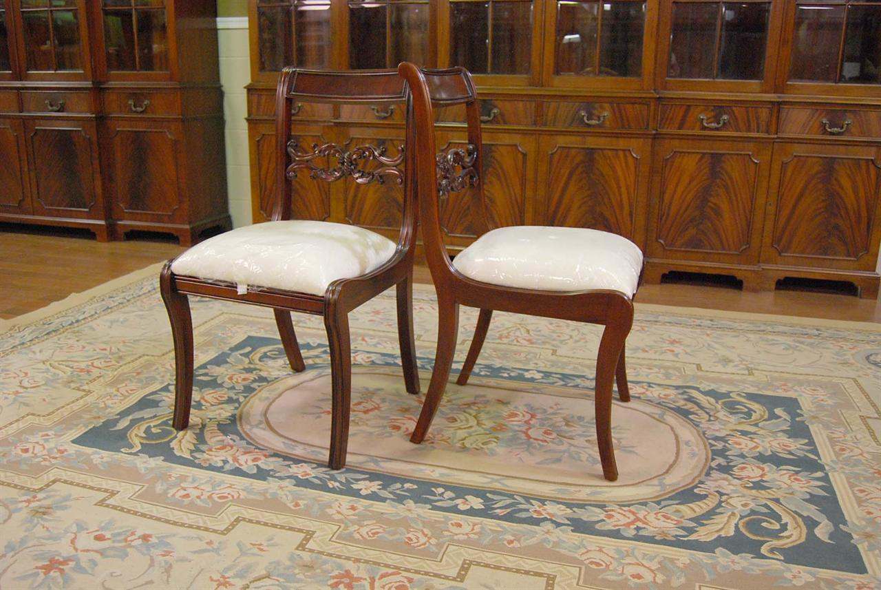 duncan phyfe chairs wedding chair covers inverness mahogany dining room empire ebay