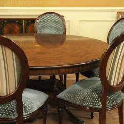 Antique Round Back Corner Chair Comfortable Side Chairs Large 64 88 Inch Expandable Mahogany Dining Table