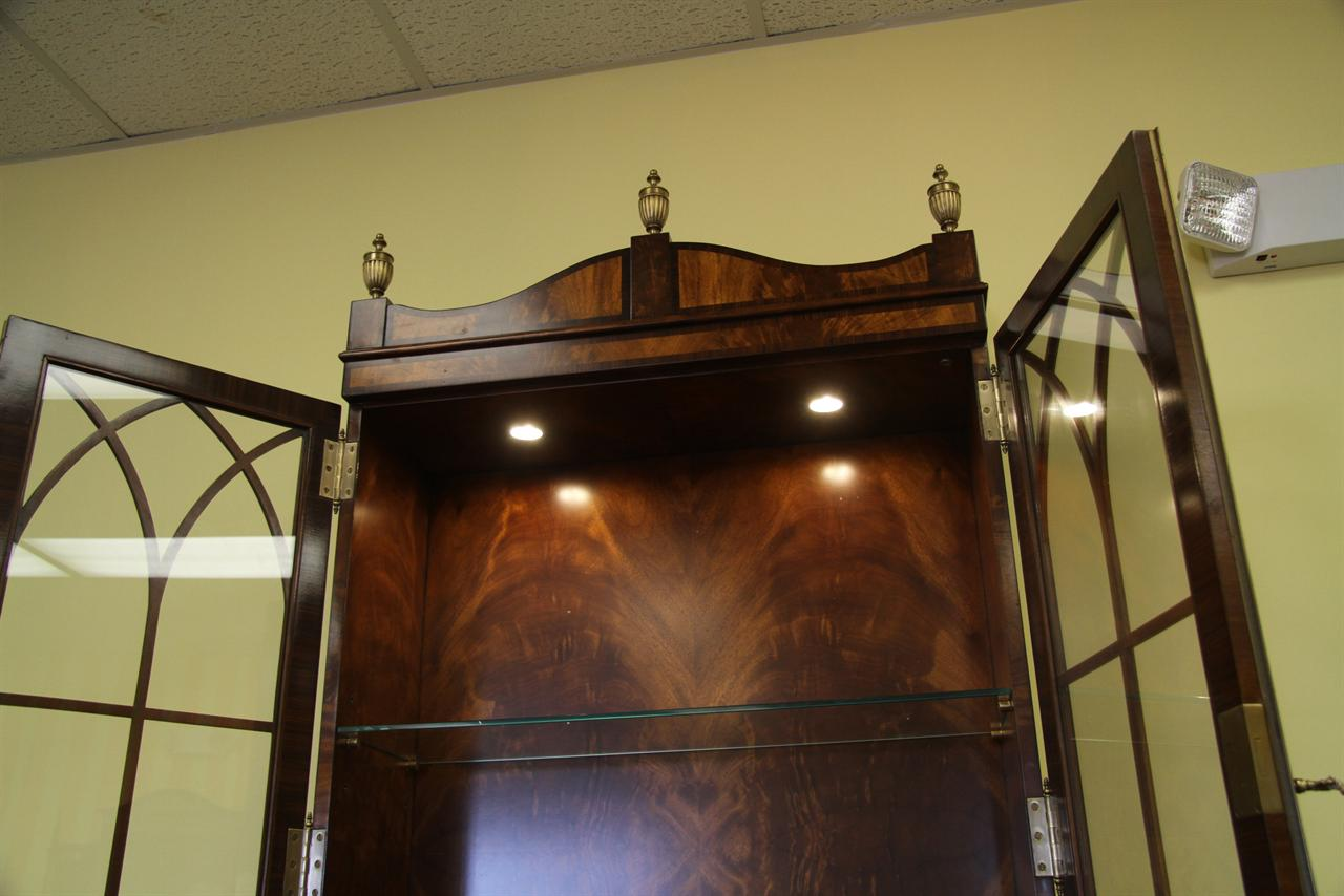 High end mahogany china cabinet or bookcase for home offfice